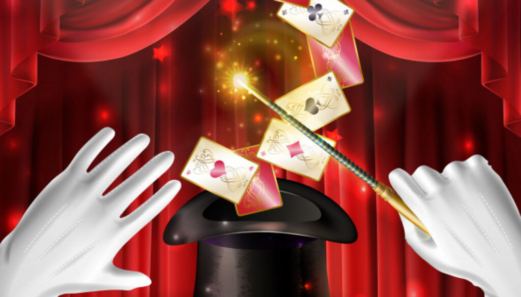 truco magia cartas volando sombrero negro_1441 4197